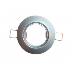 Support Rond Fix Chrome satiné