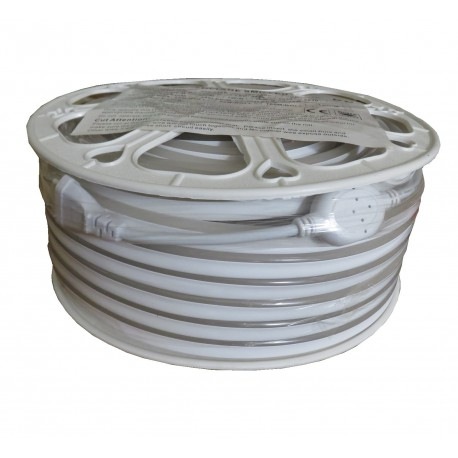 Néon flexible 230V 9Watts/m blanc neutre IP67
