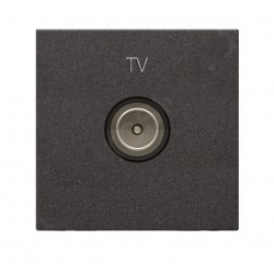 PRISE TV TERMINALE 2 MODULES ANTHRACITE