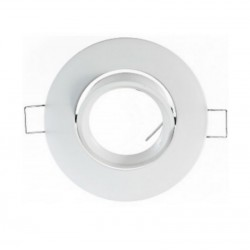 Support rond blanc orientable pour spots MR11